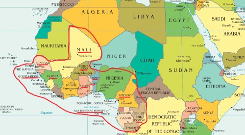 Sub-Saharan 'Bulge' of Africa